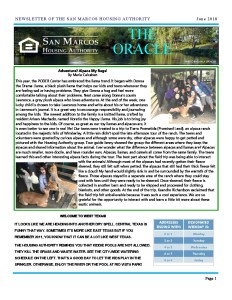 thumbnail of SMHA Oracle – June 2018