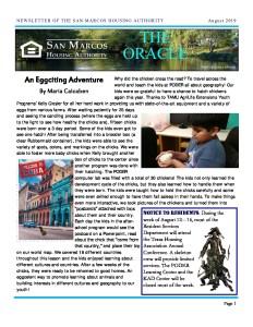 thumbnail of SMHA Oracle – August 2019