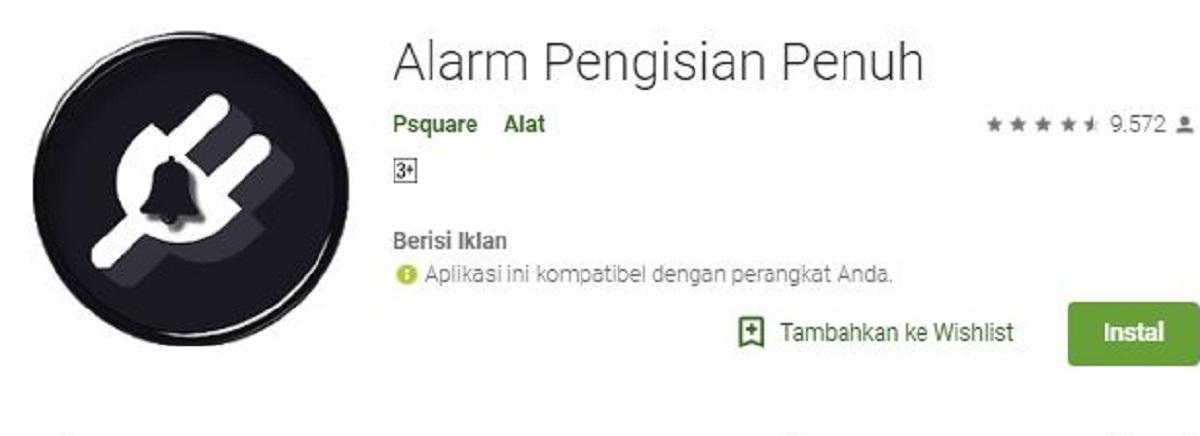 Cara Membuat Alarm Pengingat Baterai Android Penuh