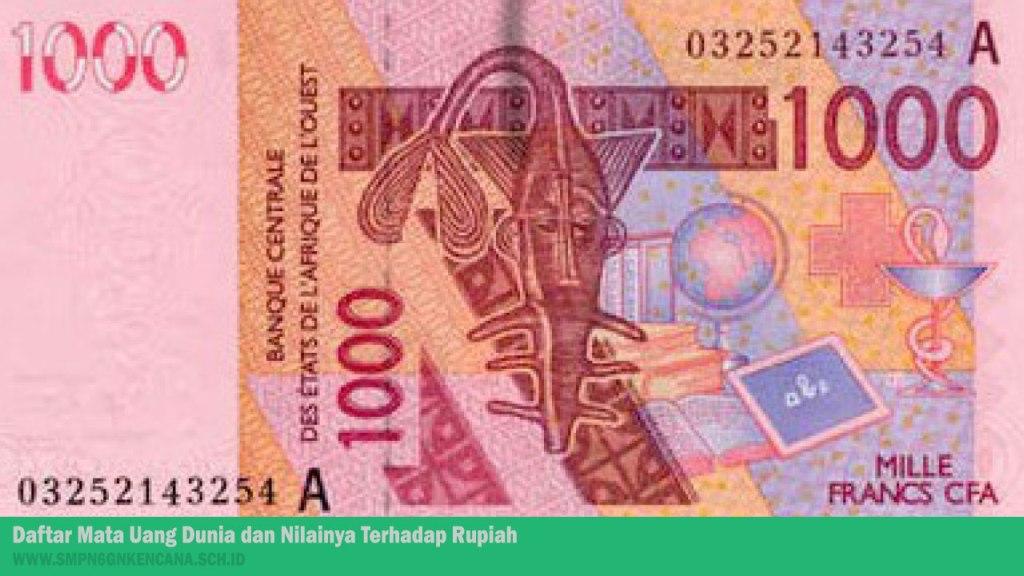 Uang Negara Merdeka di Afrika Barat