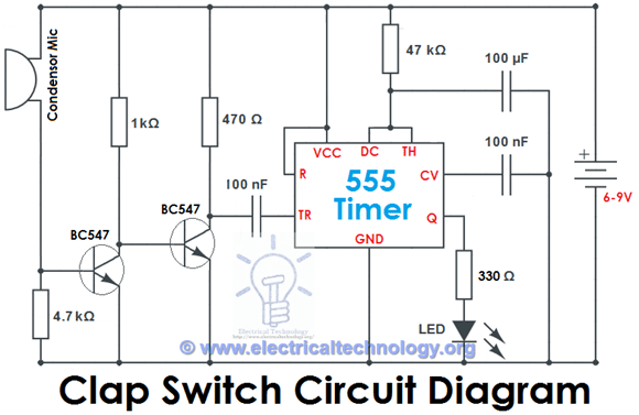 clap-switch circuit