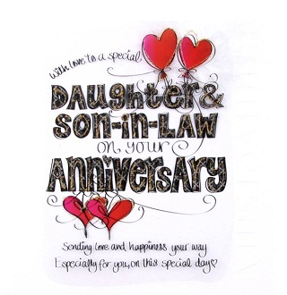 1st Wedding Anniversary Cards For Daughter And Son In Law - Wedding ...