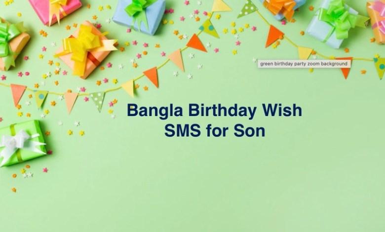 Bangla Birthday Wish SMS for Son