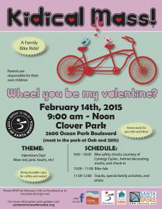 Kidical Mass Flyer V-day 2015