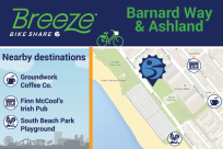 Barnard Way & Ashland connects to Groundworks Coffee Co, Finn McCools Irish Pub, South Beach Park Playground