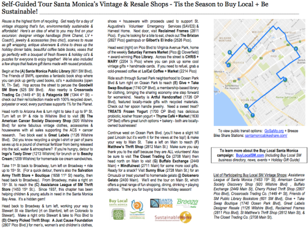 Self guided tour vintage resale shops - buy local