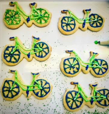 Bike Cookies for celebrating!