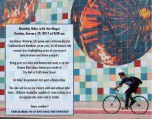 January Bike Ride with the Mayor