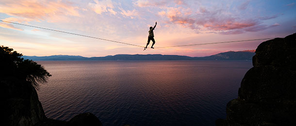 A tightrope walker.