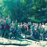 """SM2 Middle School Mission Trip enjoying some free time at Blue Hole in Soddy Daisy. One student said, """"this is one of the greatest things I've ever done."""" According to all these smiles I'm pretty sure we would all agree. @sonservants"""