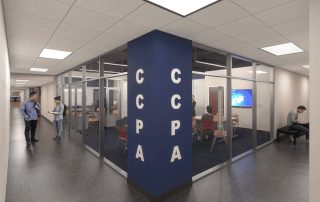 The SMU CCPA student commons