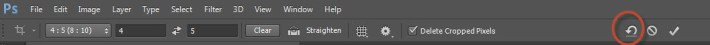 14. Reset button resets the crop box, rotation and aspect ratio
