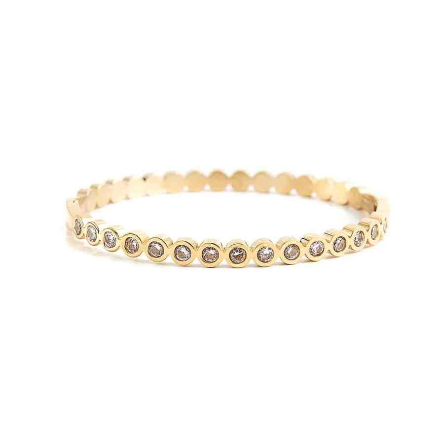 Isa Crystal armband, guld/kristall