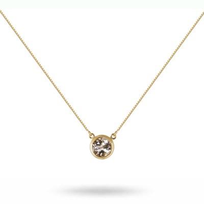 Lone Star halsband, guld/bergkristall