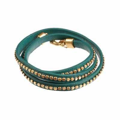 Scarabe armband, guld/grön
