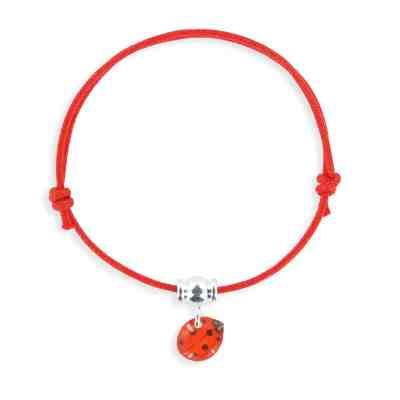 Coccinelle armband, rött