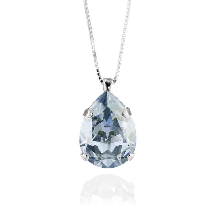 Classic Drop Halsband Blue Shade, silver