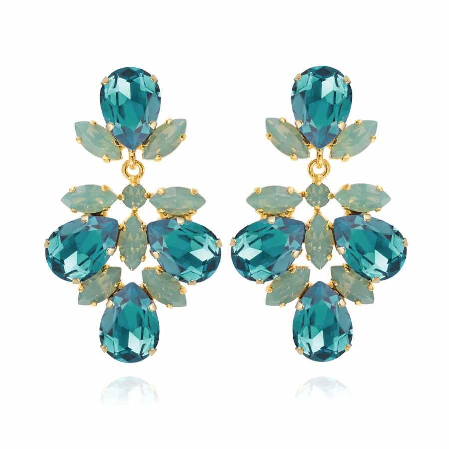 Selene Örhängen Light Turquoise/Pacific Opal, guld