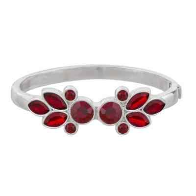 Laurie oval armband, rött