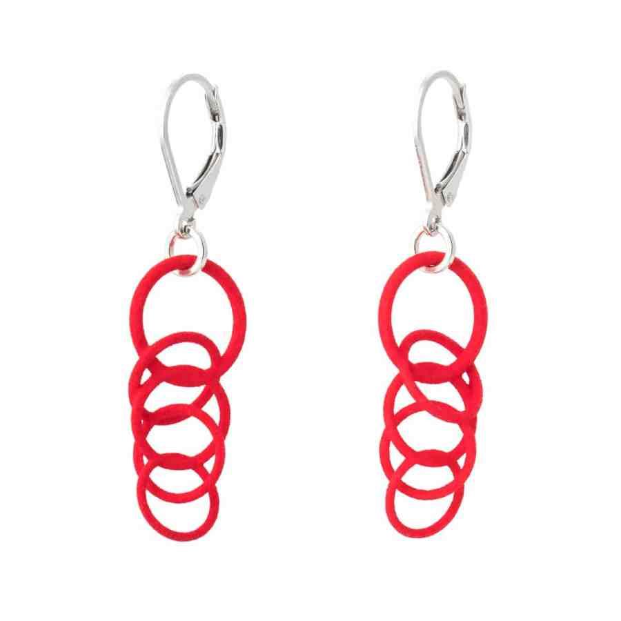Torii-Red-earrings-nylon