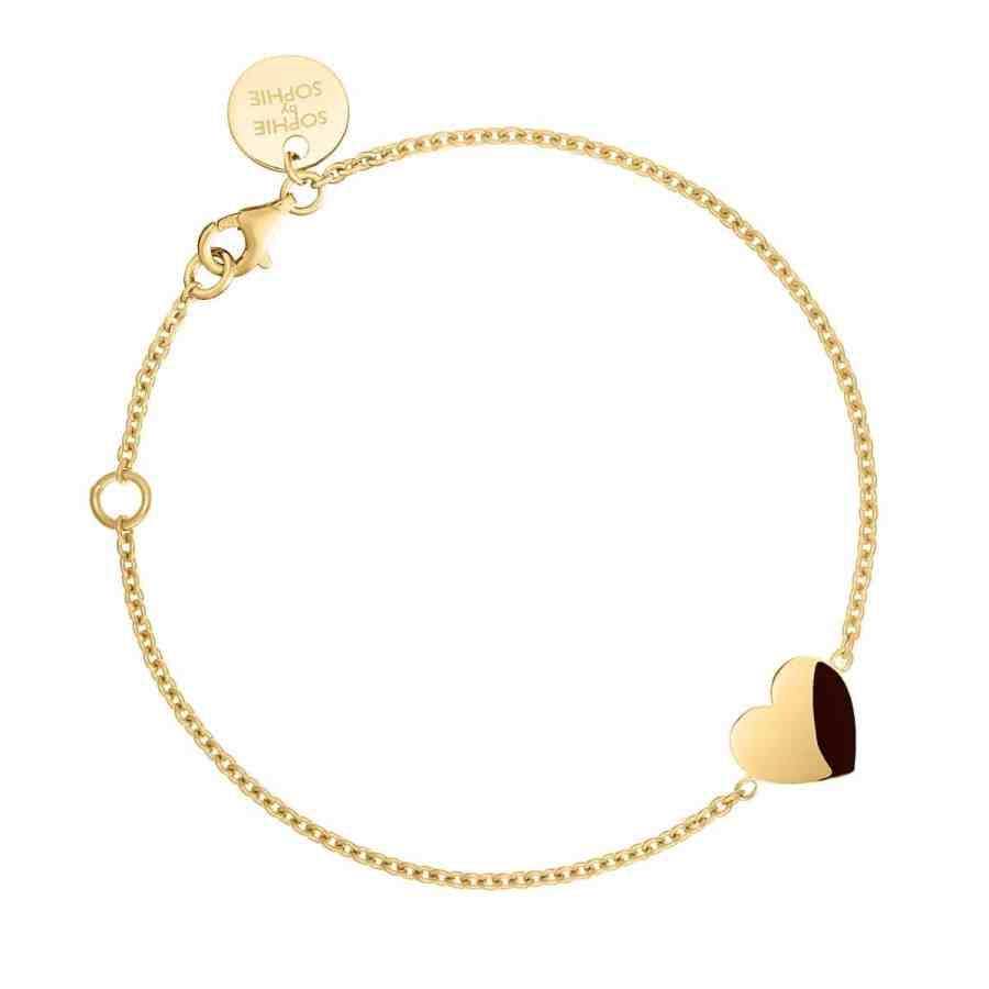 sophiebysophie-heart-bracelet-armband-guld-1