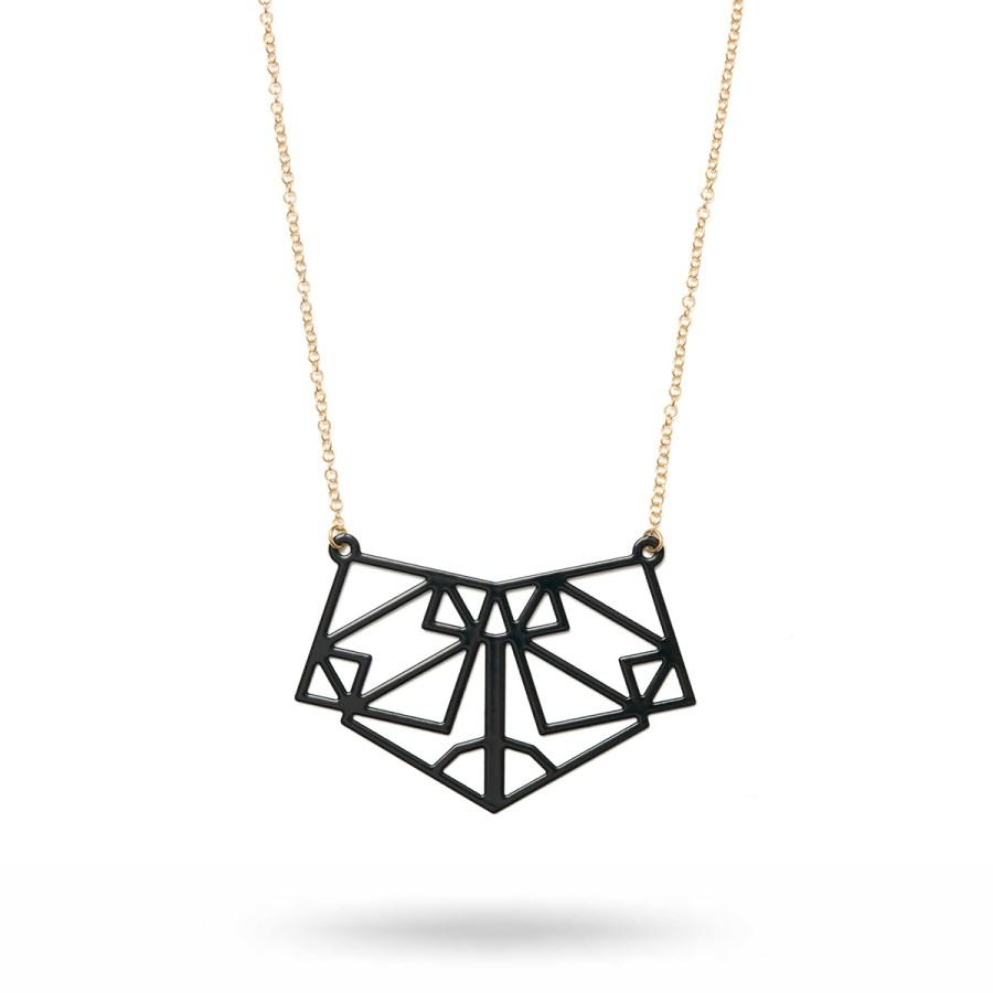 Symmetric halsband, svart