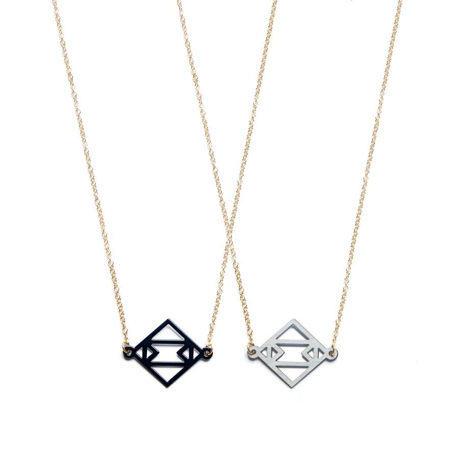 Symmetric Together Halsband, Svart/stål