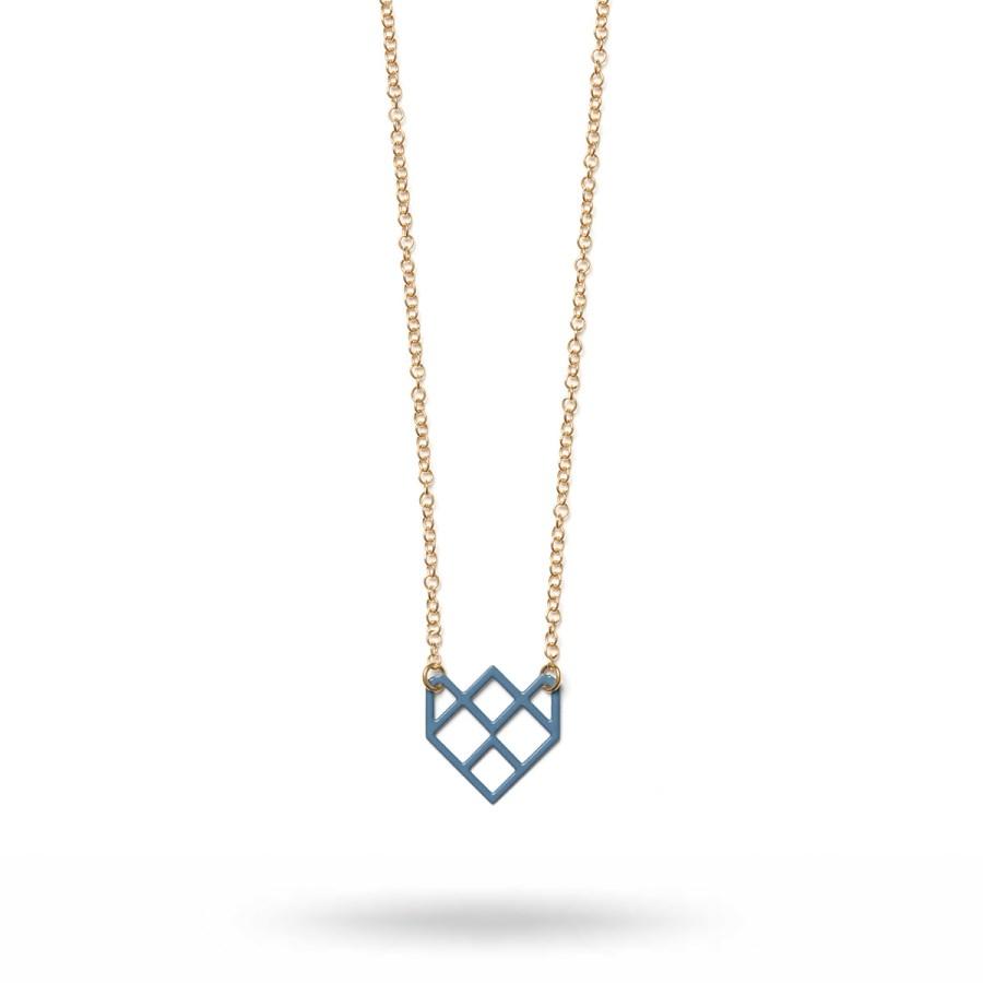 Small Symmetric Halsband, blått