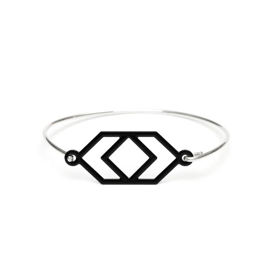 Angles Armband, silver/svart