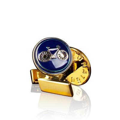 Manschettknappar Themocracy, guld/marin