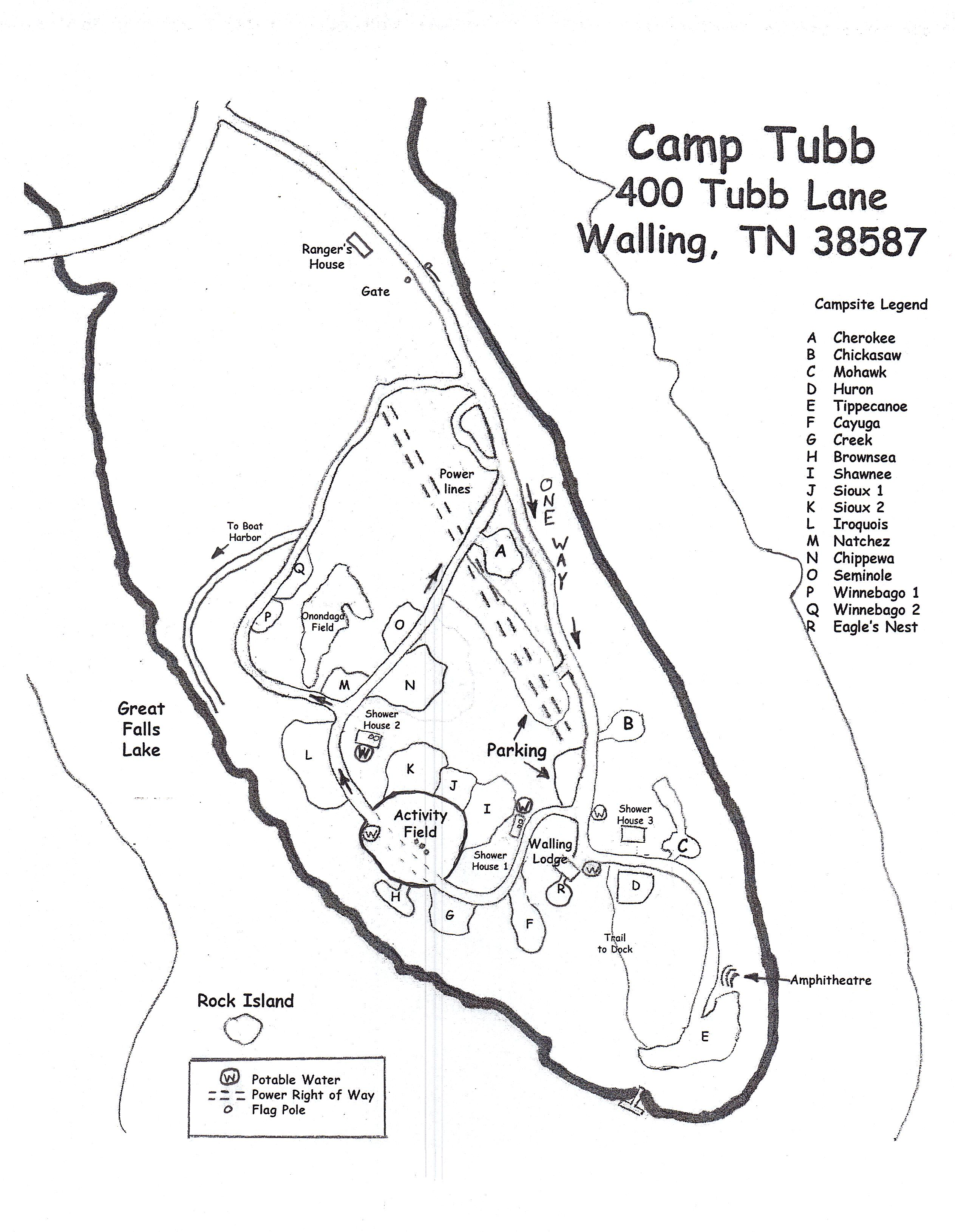 Map Of Camp Tubb Charles E Parish Reservation