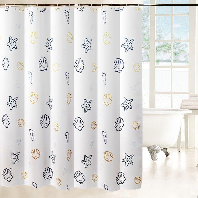 ehomebuy rideau de douche moderne creature de mer rideau blanc epais impermeable avec crochets pour salle de bains rideaux de bain 15