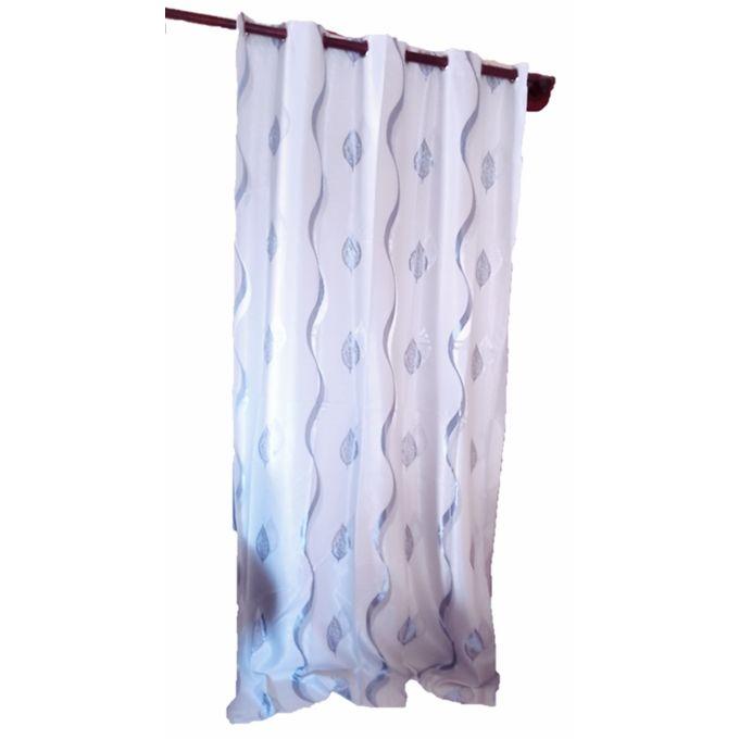 rideau de fenetre a gromes 140x260 bleu clair