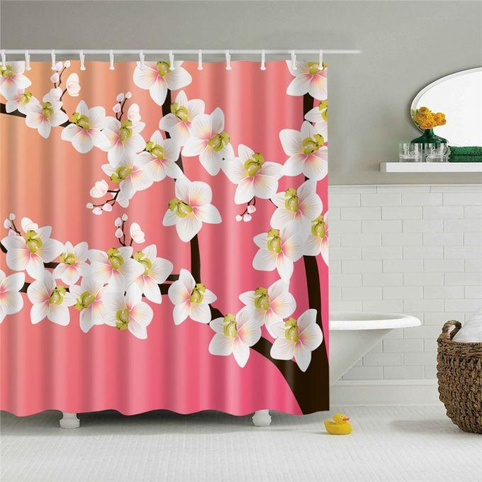 rideau de douche en tissu polyester rideau de douche rideau de bain impermeable pour decoration interieure rideau de salle de