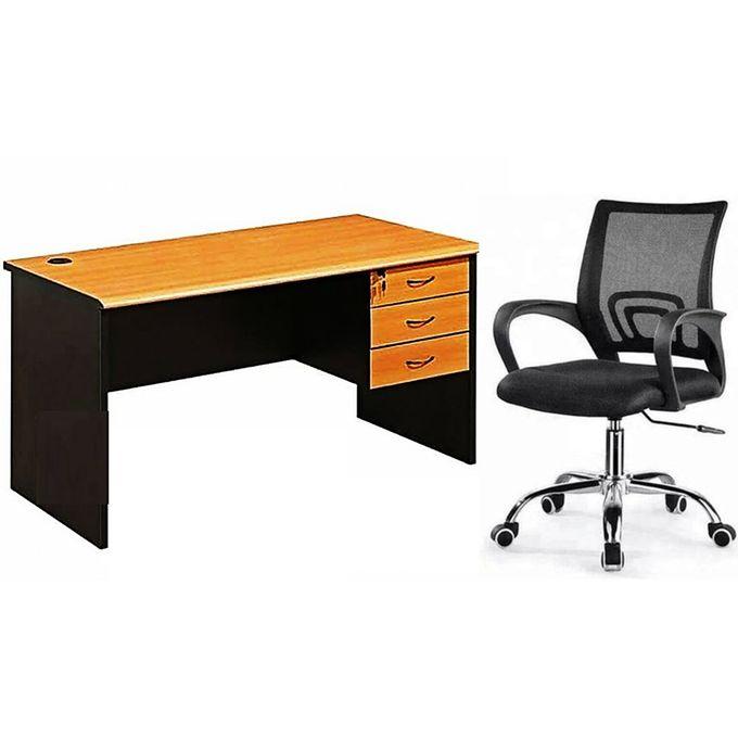 ensemble table de bureau 14cm chaise fauteuil noir