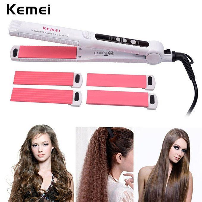kemei fer plat ceramique lisseur bigoudi electrique ondule cheveux sertisseur curling led affichage redressage coiffure