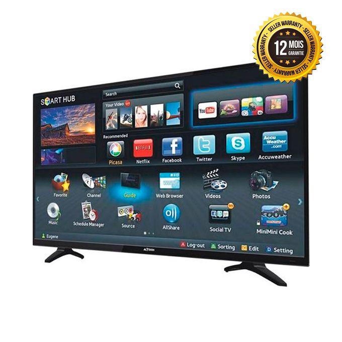 televiseur smart tv led 55 pouces full hd garantie 12 mois noir