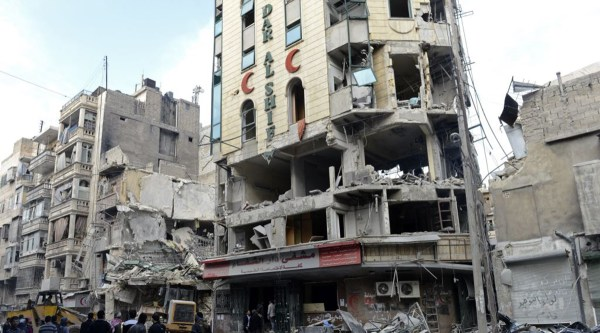 Hospitals are being targeted and destroyed in Syria ...