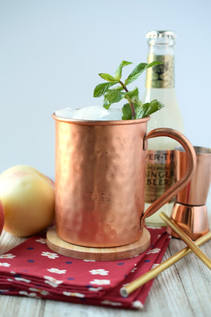 Peach Moscow Mule