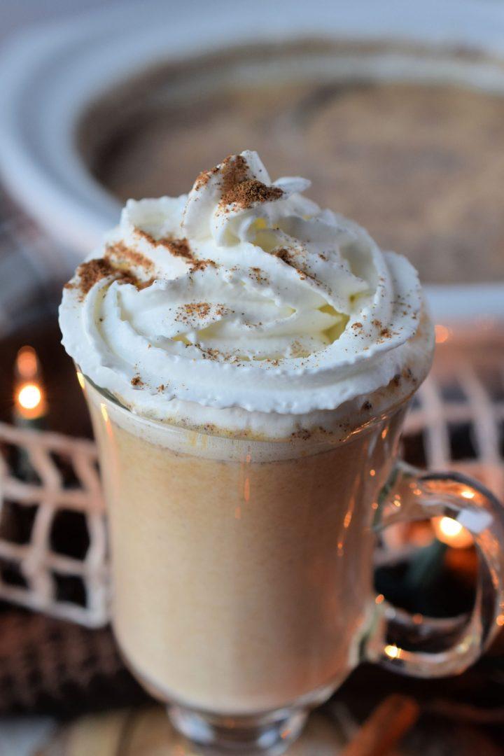 Crockpot Pumpkin Pie White Hot Chocolate