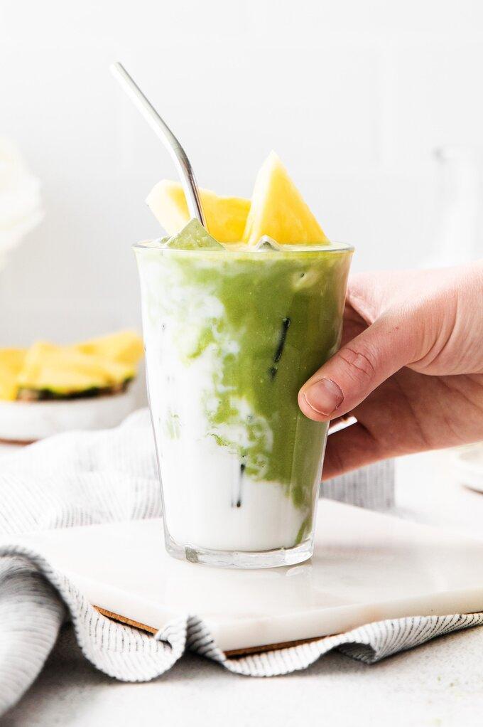 Iced Pineapple Matcha Drink {Starbucks Copycat}