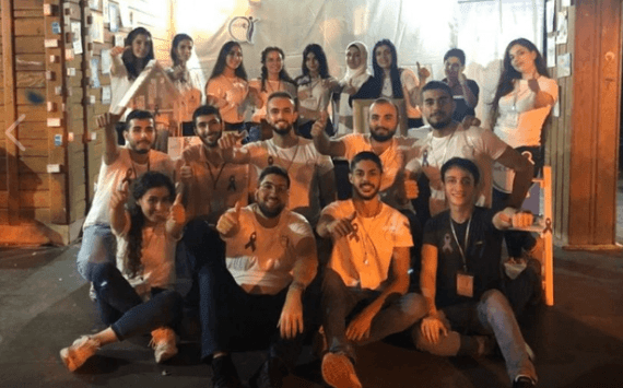 فريق (we care) التطوعي الطلابي