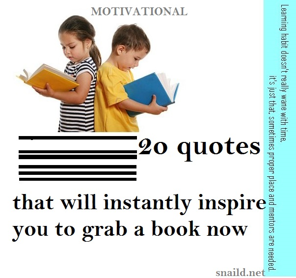 20 Inspirational and Motivational Quotes on Reading
