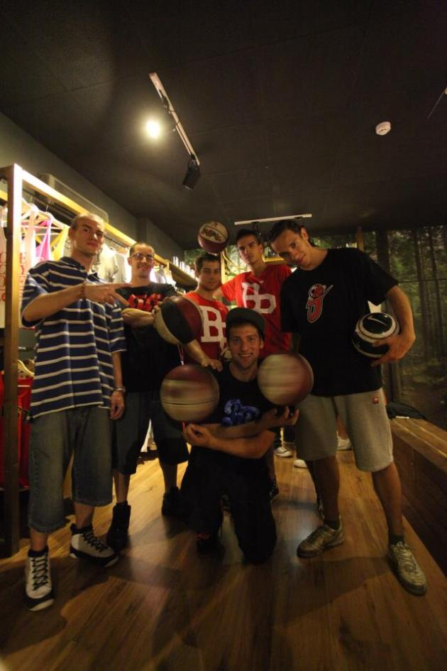Badda with Basketball Freestyle Friends