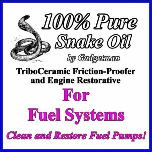 Snake Oil for Fuel Systems Info Card