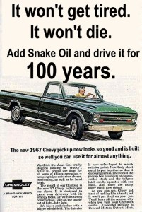 There's nothing in the world to add a longer life to old vehicles like Snake Oil by Gadgetman!