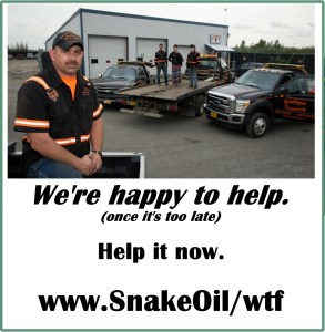 Getting towed while on a road trip is a nightmare for anyone. When it's YOUR family, add Snake Oil and you can avoid this unnecessary horror.