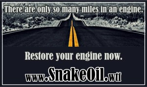 The road goes on forever. With Snake Oil your ride will see more of them!