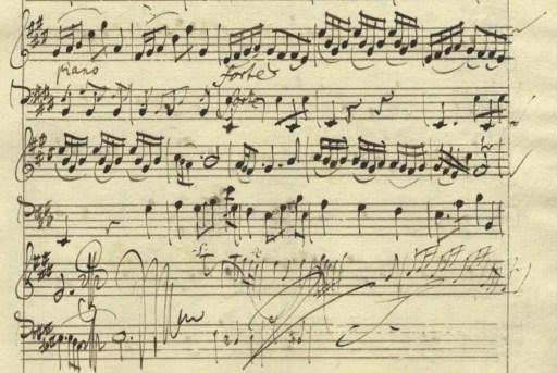 Montanari´s annotation in a Pisendel sonata