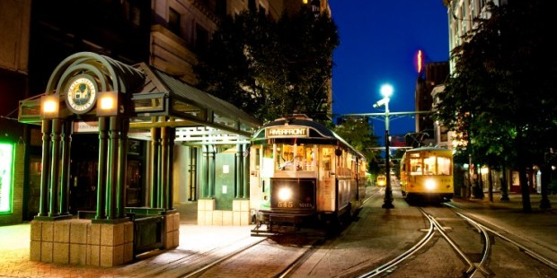 trolleys at night by jay adkins